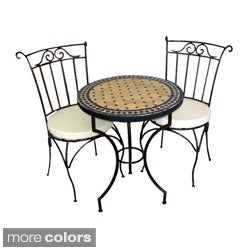 Iron Mosaic Table and Chairs Set (Morocco)
