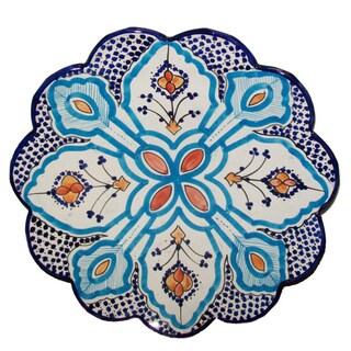 Moroocan Bellflower Ceramic Plate Large (Morocco)