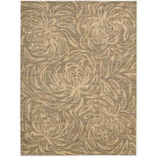 Nourison Liz Claiborne Radiant Impression Floral Silhouette Beige Rug (9'6 x 13'6)