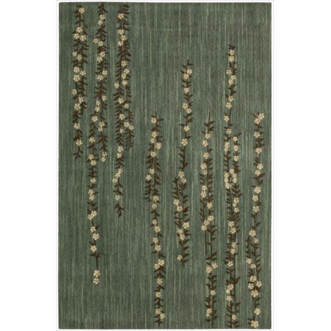 Nourison Liz Claiborne Radiant Impression Delicate Floral Green Rug (9'6 x 13'6)