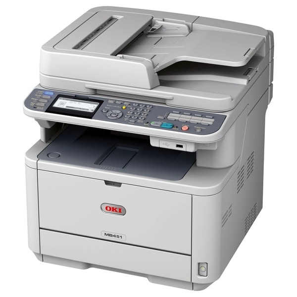 Oki MB451W LED Multifunction Printer - Monochrome - Plain Paper Print