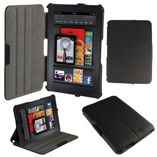 Amazon Kindle Fire 2 HD 7-inch Black Protective Leather Cover Case Stand