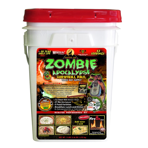 Blackridge Cliff 3 Day Emergency Survival Pail (Zombie Edition)