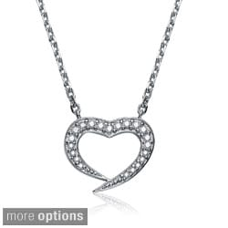 Collette Z Sterling Silver Cubic Zirconia Heart Necklace
