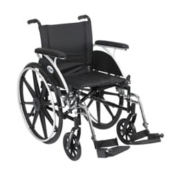 Viper Wheelchair with Various Flip Back Desk Arm Styles and Front Rigging Options