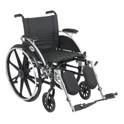 Viper 18-inch Wide Wheelchair with Various Flip-back Desk Arms and Front Riggings
