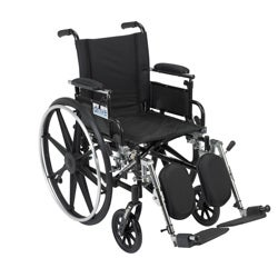 Viper Dual Axle Wheelchair with Flip-back Arms and Front Riggings