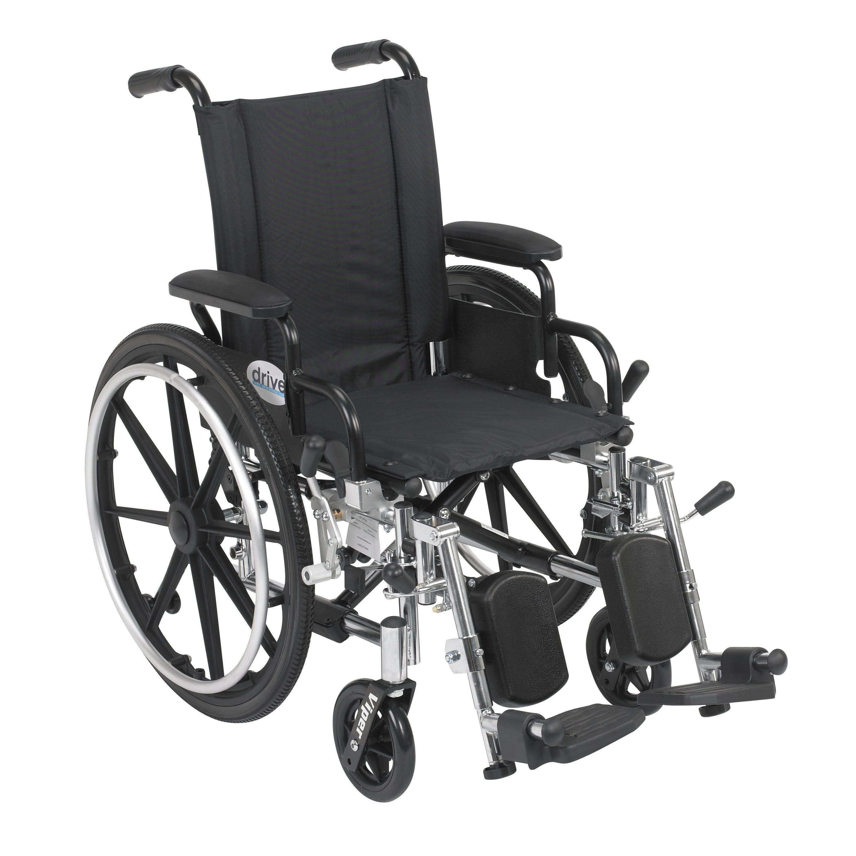 Viper Wheelchair with Flip-back Desk Arms Front Riggings and Adjustable Back Height