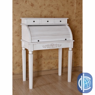 International Caravan Antique White 3-drawer Desk