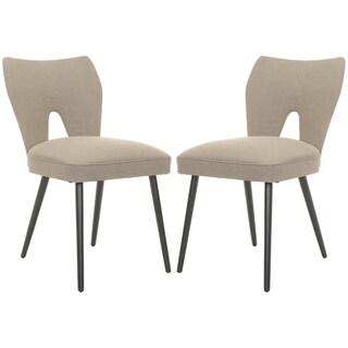 Safavieh Metropolitan Dining Retro Olive Velvet Blend Side Chairs (Set of 2)