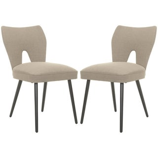 Safavieh Retro Olive Velvet Blend Side Chairs (Set of 2)