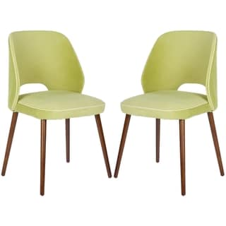 Safavieh Retro Light Green Linen Blend Side Chairs (Set of 2)