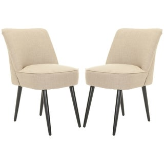 Safavieh Retro Nail head Beige Side Chairs (Set of 2)