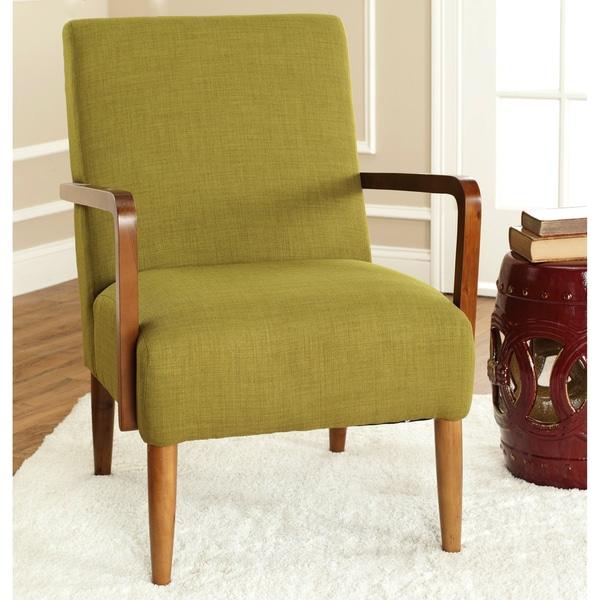 Safavieh Retro Collection Green Linen Blend Club Chair