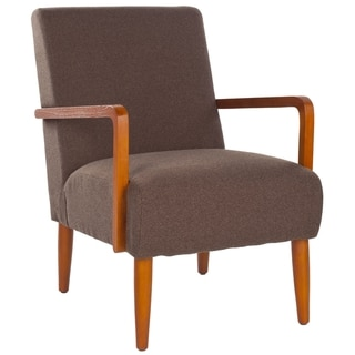 Safavieh Retro Brown Linen Blend Club Chair