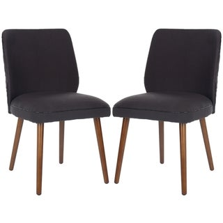 Safavieh Retro Brown Linen Blend Side Chairs (Set of 2)
