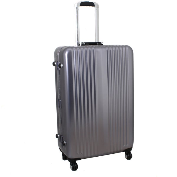 World Traveler Silver Bullet 21-inch Grey Aluminum Spinner Upright Luggage with TSA Locks