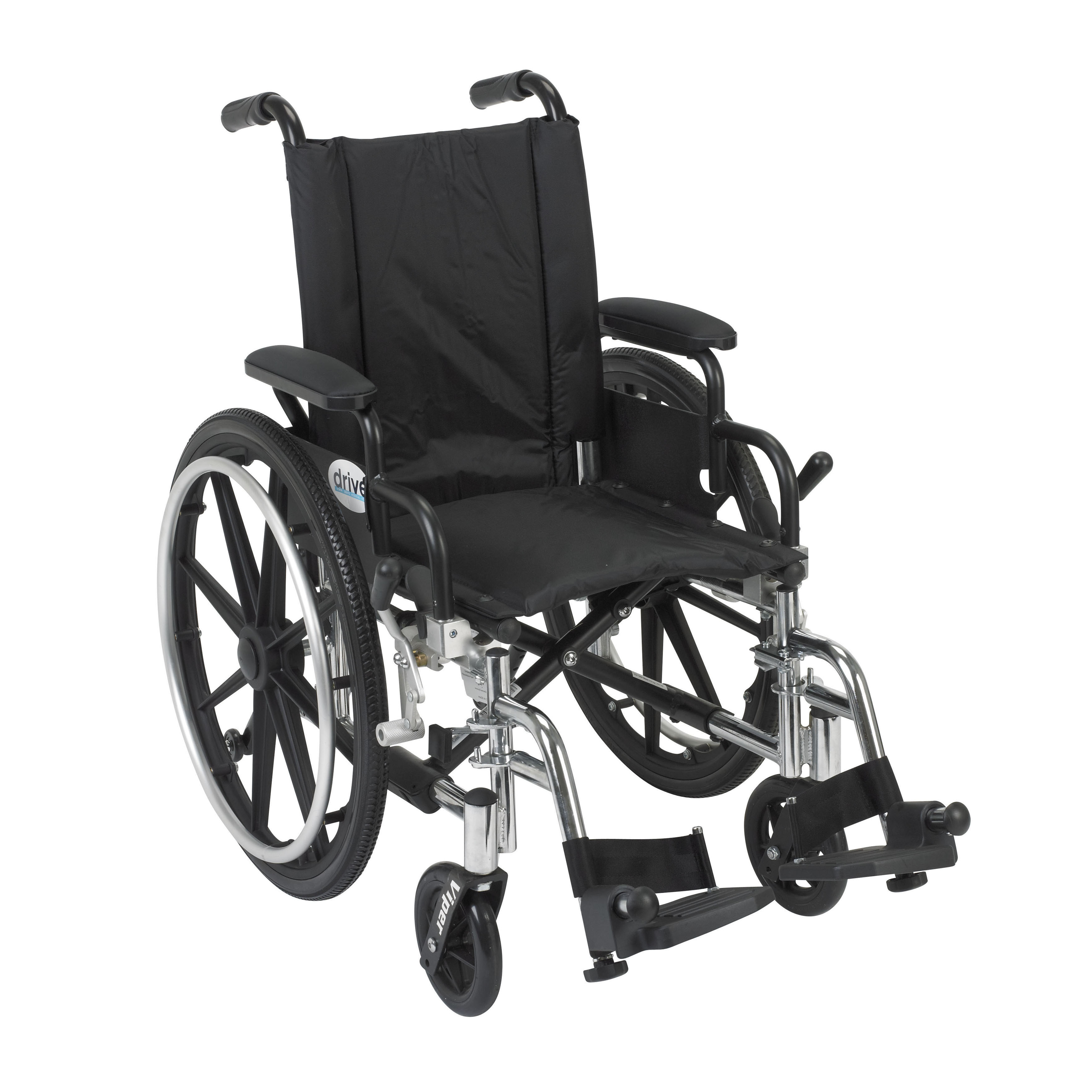 Viper 14-inch Wheelchair with Flip-back Desk Arms and Front Riggings