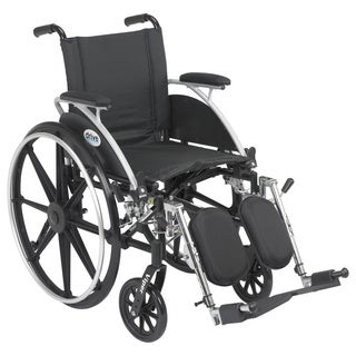 Viper Wheelchair with Flip Back Removable Desk Arms, Elevating Leg Rests and 12-inch Seat