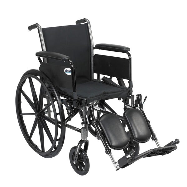 Cruiser III Light Weight Wheelchair with Flip Back Arm Styles and Front Rigging Options