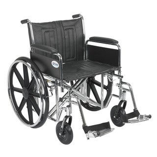 Sentra EC Heavy Duty Wheelchair with Swing-away Footrests