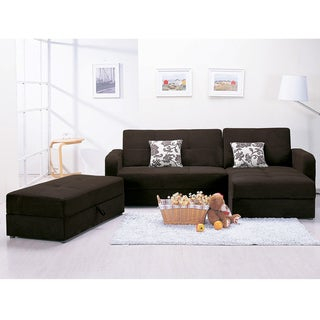 Acme Mulberry Chocolate Adjustable Sectional Sofa