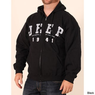 Jeep Men's Logo Zip-front Hooded Sweatshirt