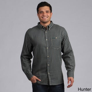 Jeep Men's Oxford Cotton Plaid Shirt