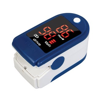 HealthOX Clip Style Fingertip Pulse Oximeter with LCD Screen