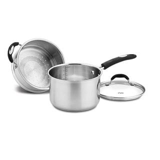 Weight Watchers Stainless Steel 3 Quart 3 Piece Steamer Set