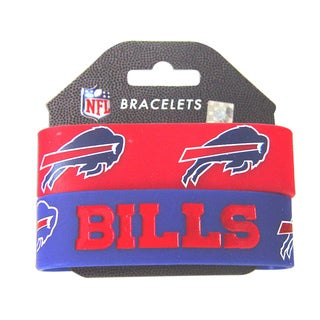 Aminco Buffalo Bills Rubber Wrist Band (Set of 2)