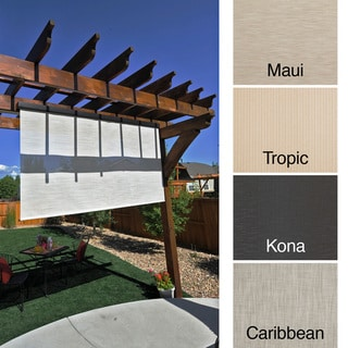 Keystone Fabrics Energy Saving Pole Operated Lift Outdoor Solar Shade