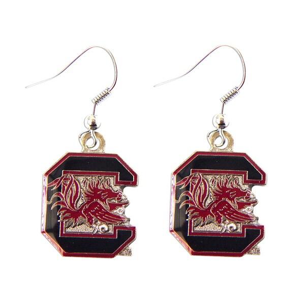 South Carolina Gamecocks Dangle Logo Earring Set