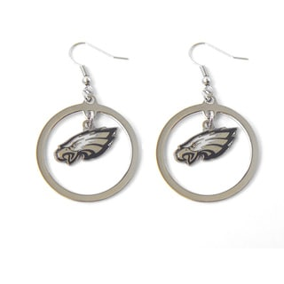 Aminco Philadelphia Eagles Dangle Logo Earring Set