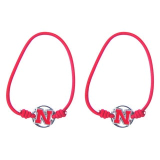 Aminco Nebraska Corn Huskers Stretch Bracelets/Hair Ties (Set of 2)