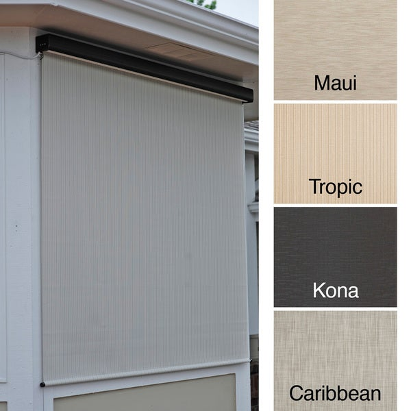 Keystone Fabrics Energy Saving Motorized Outdoor Solar Shade