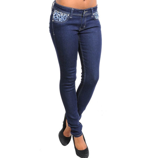 Stanzino Women's Blue Denim Skinny Jeans