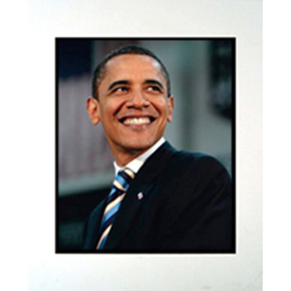 Barack Obama Matted Frame