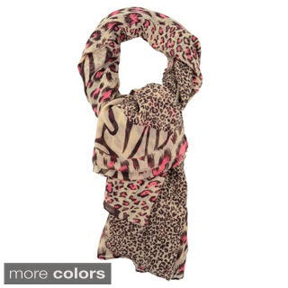 LA 77 Animal Print Collage Scarf
