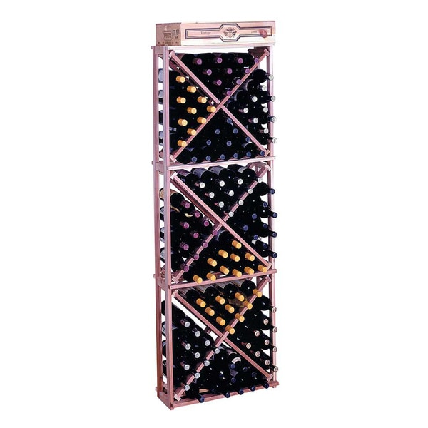 Traditional Redwood Open Diamond Cube Wine Rack