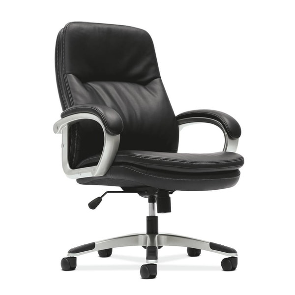 basyx by HON VL404 Managerial Mid-Back Chair with Loop Arms, Black