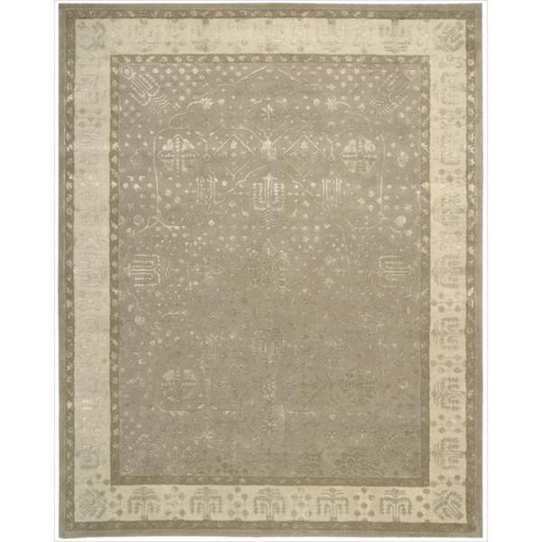 Nourison Hand-tufted Symphony Bordered Warm Taupe Rug (9'6 x 13)