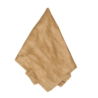 Dupion Plain Caramel Dinner Napkins (Set of 4)
