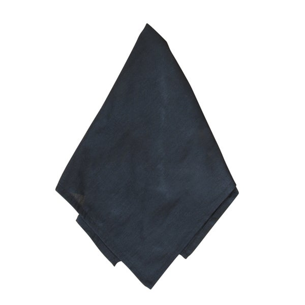 Dupion Plain Black Dinner Napkins (Set of 4)