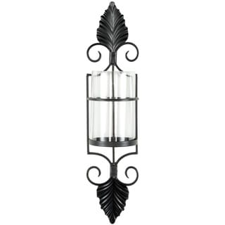 Safavieh Scroll-and-Leaf Pillar Candle Holder Wall Sconce