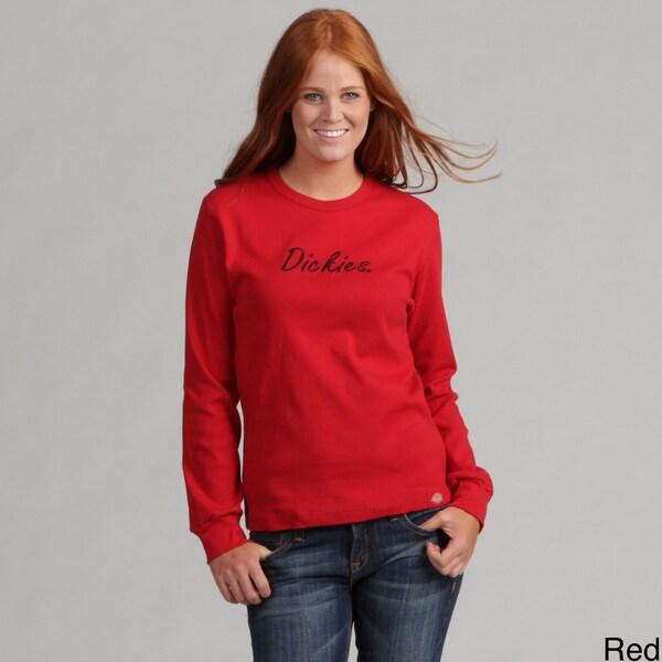 Dickies Ladies Long Sleeve Embroidered Logo Top