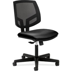 HON Volt Black Leather Mesh Back Task Chair