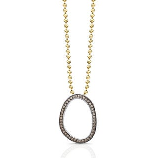 Victoria Kay Sterling Silver 1/4ct TDW Brown Diamond Oval Necklace