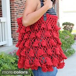 Handmade Red Crochet 'Fluttery Skrit' Handbag (Thailand)