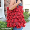 Handmade Red Crochet &#39;Fluttery Skrit&#39; Handbag (Thailand)